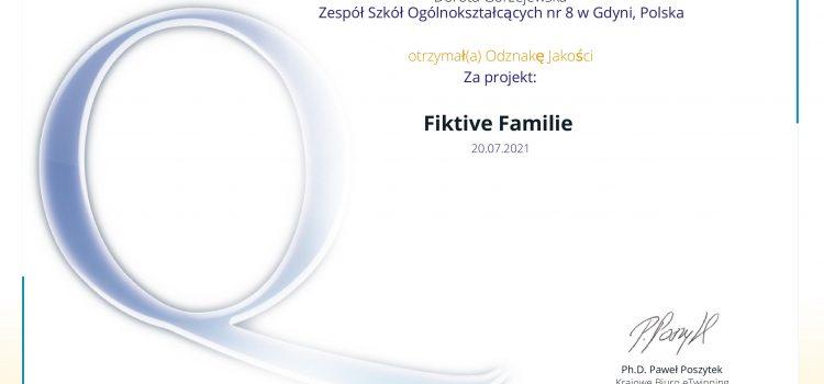 """Projekt eTwinning """"Fiktive Familie"""""""