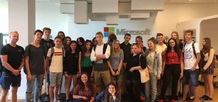 Licealiści na warsztatach  w Microsoft Polska