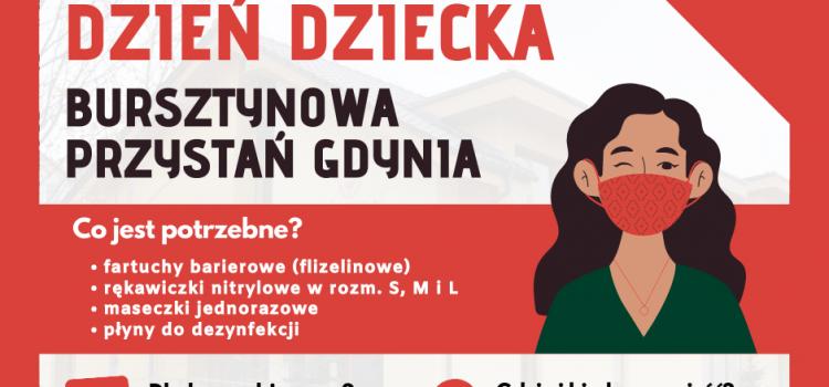 """Zbiórka artykułów dla Hospicjum Dziecięcego """"Bursztynowa Przystań"""""""
